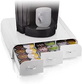 Mind Reader 36 Capacity 'Anchor' Triple Drawer K-Cup, Dolce Gusto, CBTL, Verismo, Single Serve Coffee Pod Holder Drawer, White