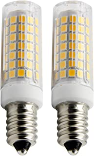 E14 LED Bulb 6W, 88 LED Chipsets, 75W Incandescent Bulbs Equivalent,600LM, Warm White 2800-3200K, AC 120V (Pack of 2)