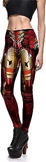 Women's Iron Man Armor Print Stretch Skinny Leggings Pencil Pants