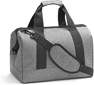 Goolfly Haversack Bag with Detachable Strap Cationic Polyester Shoulder Bag Handbags for Home Travel Business (Grey)