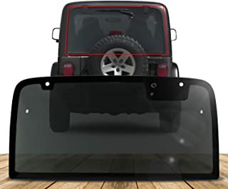 Make Auto Parts Manufacturing Rear Back Window Glass Gray Tinted Non-Heated for Jeep Wrangler 1997 1998 1999 2000 2001 2002