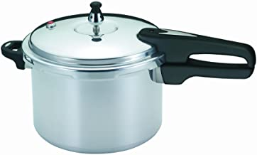 Mirro 92160A Polished Aluminum 10-PSI Pressure Cooker Cookware, 6-Quart, Silver – 7114000230