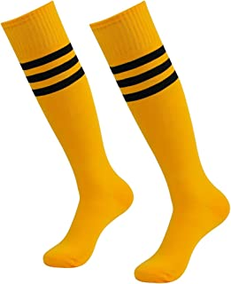 Unisex Knee High Stripe Football Sports Tube Socks 2 Pack,6 Pack,10 Pack