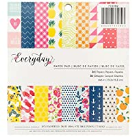 American Crafts Pebbles Jen Hadfield Everyday 6 X 6 Inch 36 Sheet Paper Pad by American Crafts