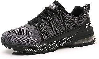 Monrinda Sneakers Heren Dames Hardloopschoenen Luchtkussen Sportschoenen Mode Loopschoenen Lichtgewicht Ademende Demping O...