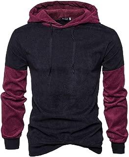 Mogogo Mens Casual Long Sleeve Workout Slim-Fit Pullover Sweatshirt Hoodies