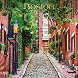 Boston 2020 12 x 12 Inch Monthly Square Wall Calendar with Foil Stamped Cover, USA United States of America Massachusetts Northeast City