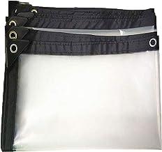 Transparante dekzeil 5x6m, doorzichtig waterdicht zeildoek met doorvoertules, transparante dekzeilen met doorvoertules Duu...