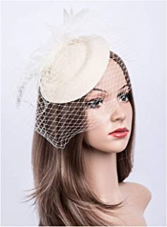 ce3a9d6c Fascinators Hats 20s 50s Hat Pillbox Hat Cocktail Tea Party Headwear with  Veil for Girls and
