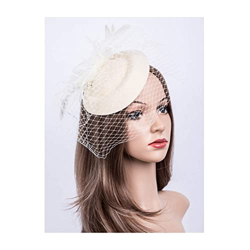 54b0d852509b8 Fascinators Hats 20s 50s Hat Pillbox Hat Cocktail Tea Party Headwear with  Veil for Girls and