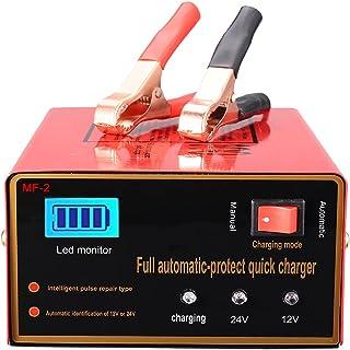 Aibeau Chargeur de batterie de voiture 10 A 12 V/24 V Chargeur de batterie de voiture Chargeur de maintenance Convient pou...