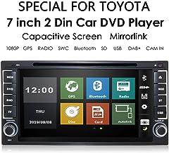 7 Pulgadas en el Tablero Reproductor de DVD estéreo Universal para automóvil Doble DIN Navegación con Soporte de Radio BT/SWC/Subwoofer para Toyota Camry Corolla RAV4 4Runner Tundra Celica Auris