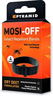 Pyramid Mosi-Off Insect Repellent Bands / Bracelets - 4 pack