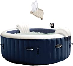 Intex PureSpa 4 Person Inflatable Portable Heated Round Hot Tub & Drink Table