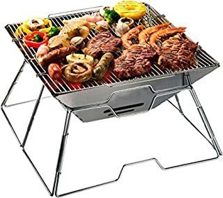 Barbecue Holzkohlegrill ag Tragbarer Faltgrill Camping Garten Party BBQ Edelstahl Grill