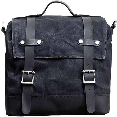Jfzs Multifunktions Canvas Motorradtasche Seitentasche Satteltaschen Schulter Umhängetasche 1 Taschen 40 30 15 Cm A Küche Haushalt