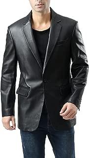 lambskin leather blazer