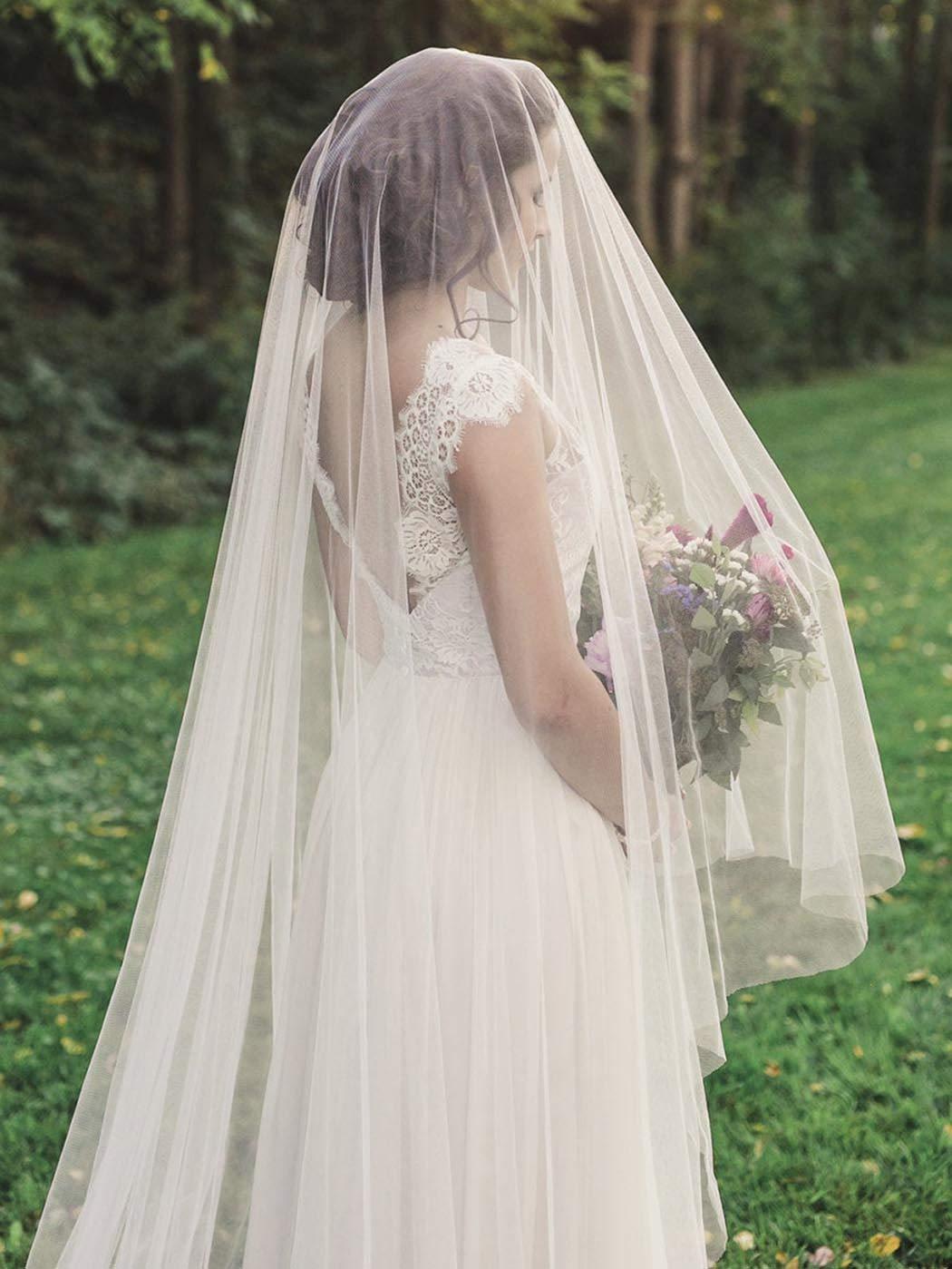 Whisttle 1 Tier Bridal Wedding Veil 118