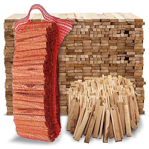 Aleko Parkett Premium 28 kg Brennholz - Anzünder aus Eichenholz, Bio Kaminanzünder, für Grill, Kamin, Ofen - perfekter Grillanzünder, getrocknetes und unbehandeltes Anmachholz