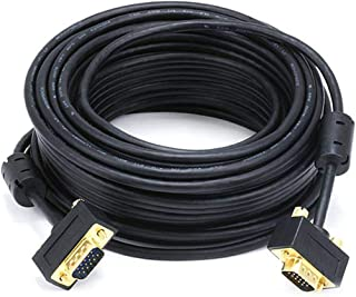 Monoprice 50ft Ultra Slim SVGA Super VGA 30/32AWG M/M Monitor Cable w/ ferrites (Gold Plated Connector)