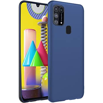 CEDO Back Cover for Samsung Galaxy M31 / M31 Prime / F41 | All Side Shock Proof Rubberised Matte Soft Silicon Flexible Back Case Cover for Samsung Galaxy M31 / M31 Prime / F41 (Blue)