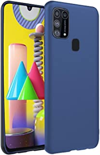 CEDO Back Cover for Samsung Galaxy M31   All Side Shock Proof Rubberised Matte Soft Silicon Flexible Back Case Cover for Samsung Galaxy M31 (Blue)