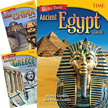 Teacher Created Materials - TIME Informational Text  You Are There! Ancient Times - 3 Book Set - Grade 6 - Guided Reading Level V-X