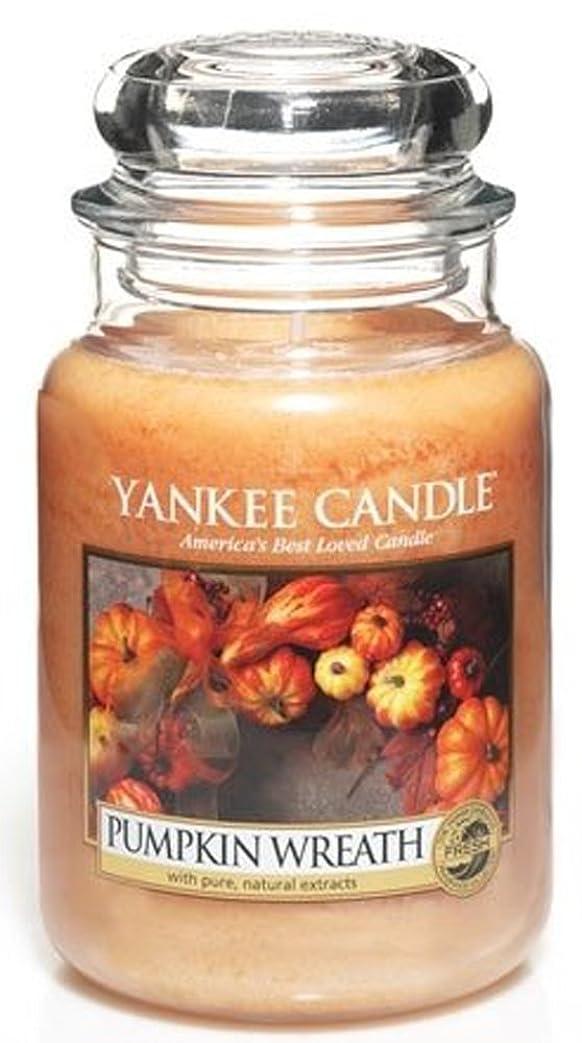 エッセイキルスモノグラフYankee Candle Pumpkin Wreath Large Jar Candle、新鮮な香り