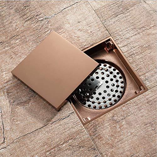 QIFA Bad Bodenablauf, Fliesen Einsatz Duschwanne Ablauffilter, Mit Abnehmbarem Deckel Anti-Verstopfung, Küchenwaschraum Verwenden Bodenablauf