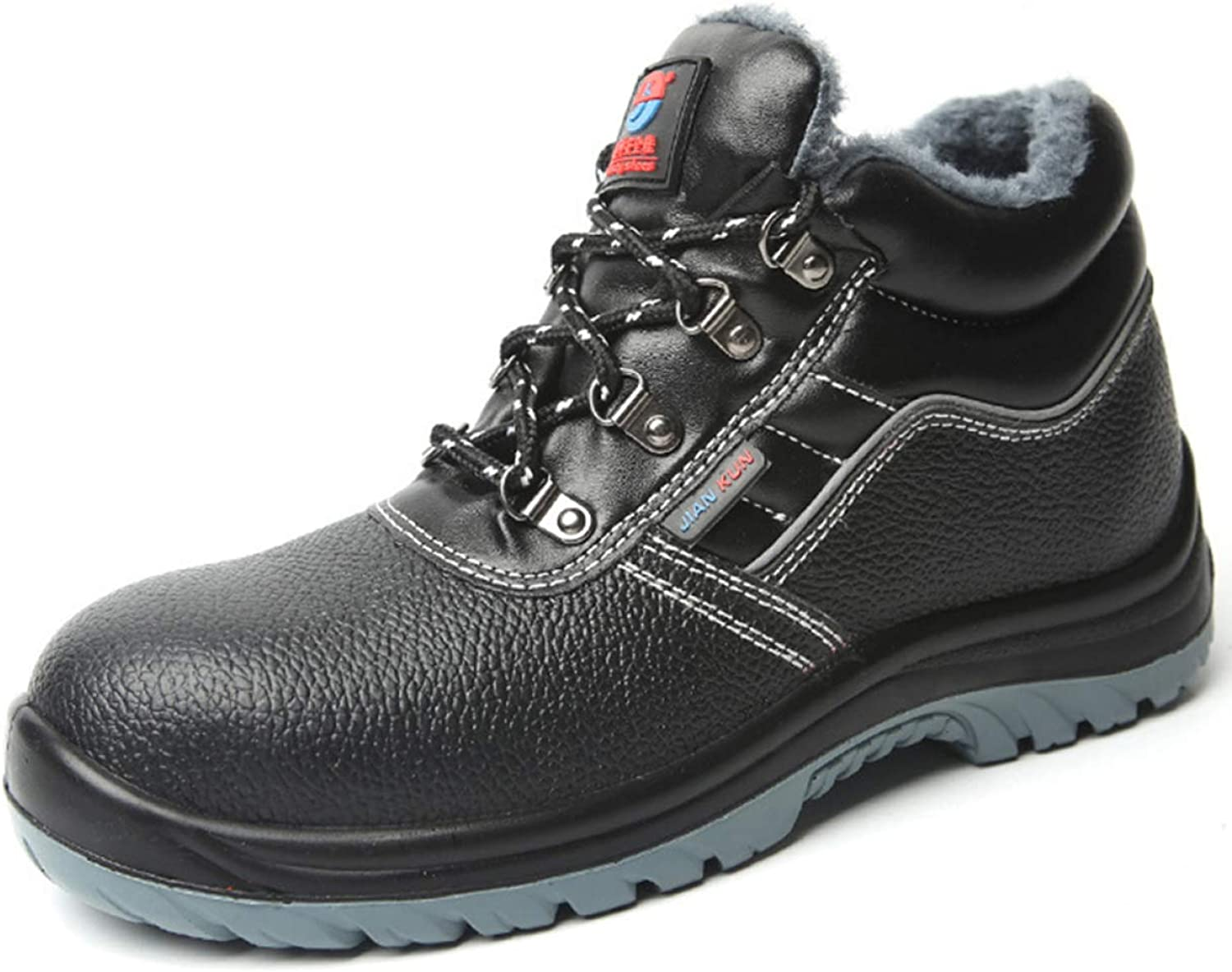 RSHENG shoes For Men's Steel Toe Work Boots Warm Lining Ankle Boots Puncture Proof Safety shoes