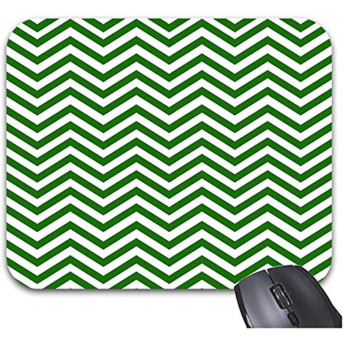 Smity Modern Green Chevron Mouse Pad 30 * 25 * 0,3 cm Muismat Mode Ontworpen Mousepads Trendy Office Desktop Accessoire