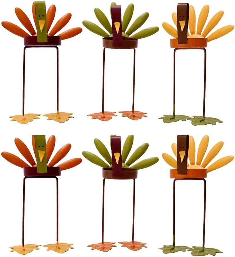 Arlington Mall E-view Metal Turkey Tealight Candles Holder Set of Max 89% OFF Ha - 6 Autumn