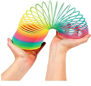 Honmofun Giant Magic Rainbow Springs Rainbow Magic Spring Rainbow Spring Slinky Toy Circles Slinky Rainbow for Children Toys Party Favors Rainbow Magic Spring 5 Inch