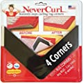 iPrimio NeverCurl Best V Shape Design Gripper to Instantly Stops Rug Corner Curling. Safe for Wood Floors. for Indoor & Outdoor Rugs - Not an Anti-Slip pad - Made USA - Patented