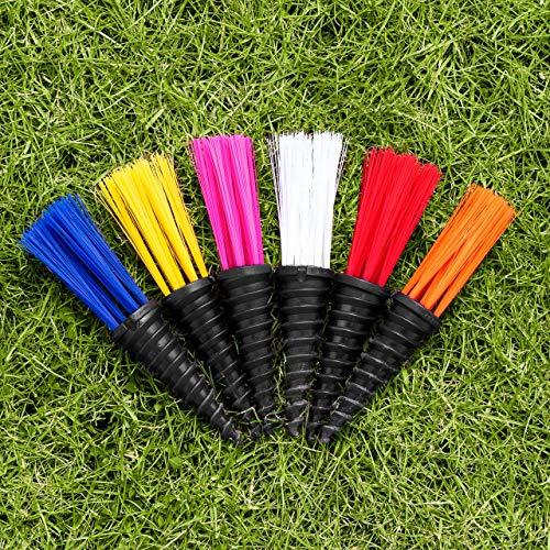 FORZA Wembley Rasenmarker Büschel – 25er-Set – Schrauben Sie die Marker Büschel im Boden – in sechs Farben erhältlich (Weiß)