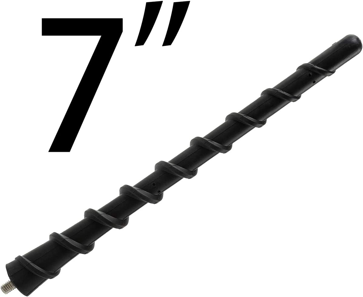 Possbay 7 '' Spiral Antenna fit for Ford F-150 Series 2009-2020 Flexible Rubber Car