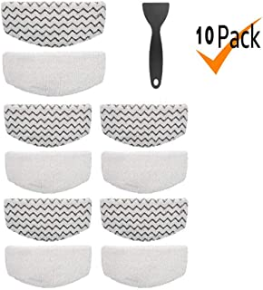 Tingkam 10 Pack Washable Steam Mop Pads Replacement Compatible with Bissell Powerfresh 1940 1544 1440 Series Steam Mop, Model 1544A, 2075A, 1806, 5938, 1940W, 19404, 1940A