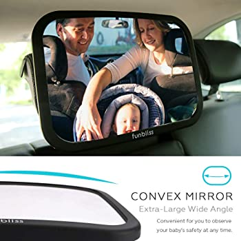 Car Mirror Baby Rear Facing Seat,Baby Car Mirror Safely Monitor Infant Child in Rear Facing Car Seat,See Children or ...