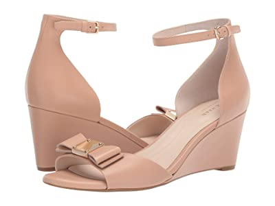 Cole Haan Tali Grand Bow Wedge 65 (Nude Leather) Women