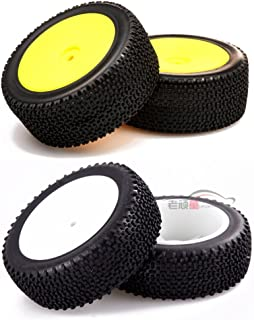 Junsi 1/14 Scale Front & Rear Mounted 12MM Tire Wheel Rim for LC Racing EMB-1 Buggy