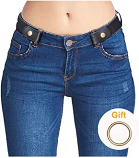 No Buckle Elastic Stretch Belts for Men and Women, Comfortable Invisible Belts for Jeans Pants