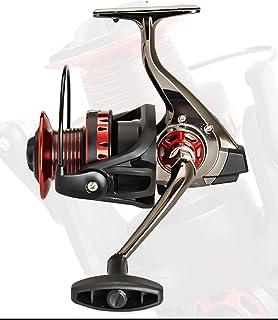 No Gap Fishing Reel, Metal Long-Distance Fishing Reel, 5.2:1 High-Speed Fishing Reel, Left/Right Hand Swap, Large-Capacity...