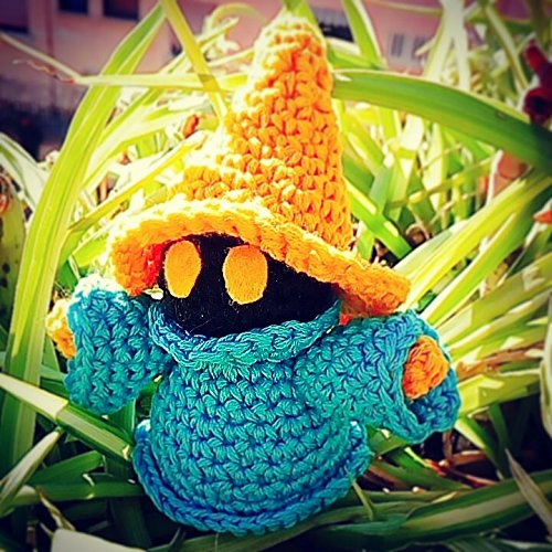 Amigurumi Handmade Black Mage - Final Fantasy!
