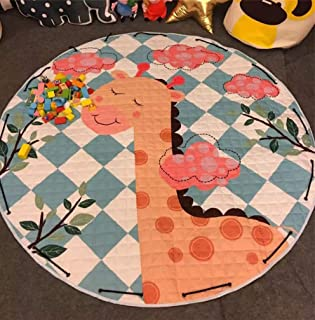 Home Decor Kids Room Carpet Round Fox Baby Play mat Patchwork Picnic Blanket