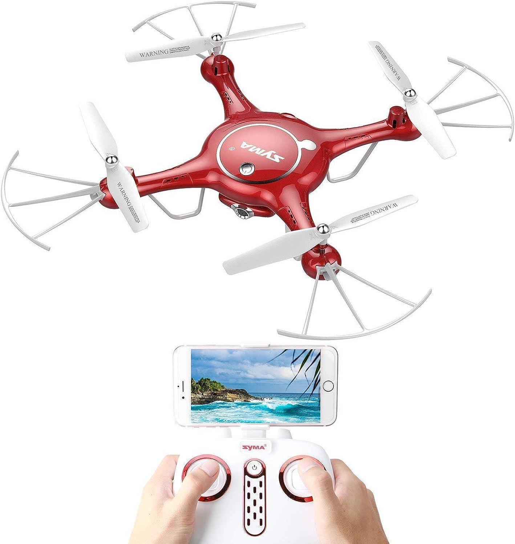 Syma X5UW FPV Wifi RC Drohne Quadcopter mit HD Kamera Live Video Handy App Ferngesteuert Steuerung Drone für Kinder