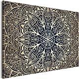 murando Cuadro en Lienzo Mandala 120x80 cm 1 Parte Impresión en Material Tejido...