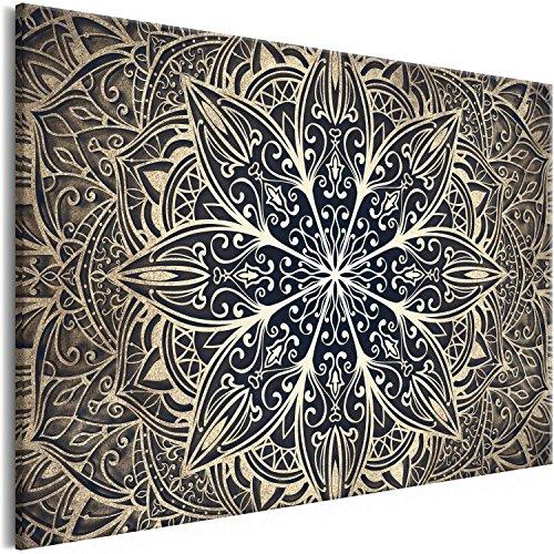 murando Cuadro en Lienzo Mandala 90x60 cm 1 Parte Impresión en Material Tejido no Tejido Impresión Artística Imagen Gráfica Decoracion de Pared Orient Zen SPA f-A-0637-b-b