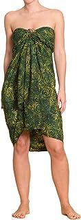PANASIAM Sarong für Damen & Herren I 100% Handarbeit aus Indonesien - jedes Tuch ein Unikat I hochwertiger blickdichter Wickelrock I Batik m. deutschen Textilfarben I Strandtuch