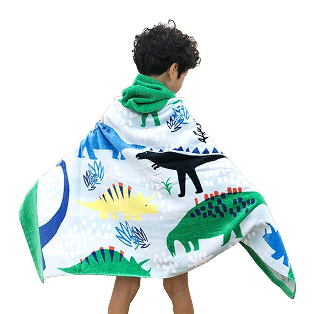 ボタン維持化石KODENOR フード付きバス/プール/ビーチタオル 子供 女の子 男の子 かわいい漫画の動物 完全活力 スーパーソフト&吸収性 色あせ防止 コットンタオル