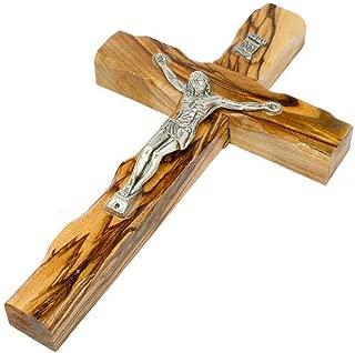 Bethlehem Gifts TM Handcarved from Bethlehem Olive Wood Cross Crucifix (Crucifix, 5